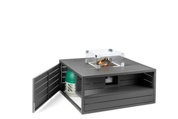 Happy cocooning cocoon table aluminium vierkant antraciet