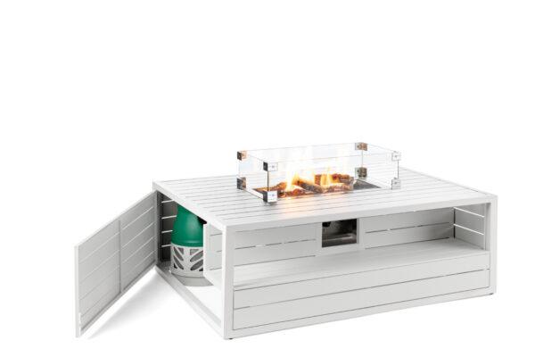 Happy cocooning cocoon table aluminium rechthoek wit