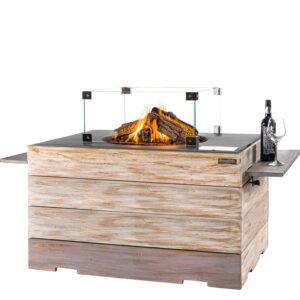 Happy cocooning Cocoon Tables en Teck Nice&Nasty Lounge & Dining Rectangulaire Anthracite + Encadrement en Verre