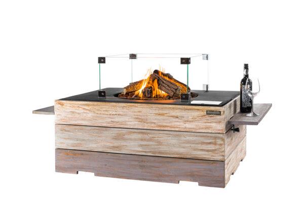 Happy cocooning Cocoon Table en Teck Nice&Nasty Rectangulaire Noir Complet
