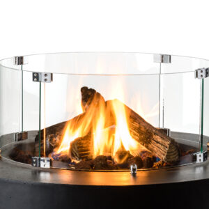 Cocoon Table Encadrement En Verre Cone, Bowl & Ovale