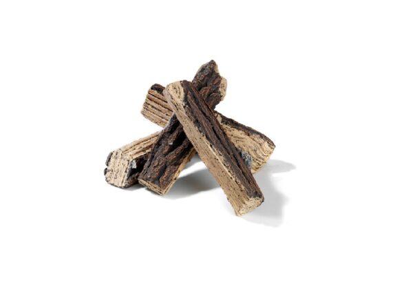 Keramische houtblokken inbouwbranders