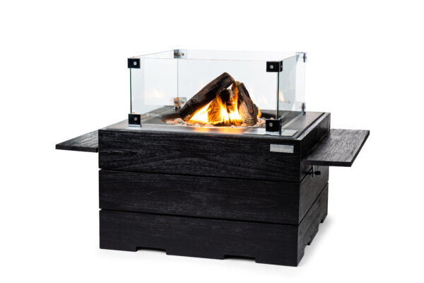 Happy Cocooning Cocoon Tables Teakhout Black Vierkant Antraciet