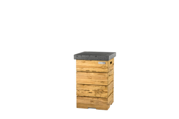 Happy Cocooning Cocoon Tables Driftwood Enclosure (Table d'Appoint) Noir GPL Anthracite