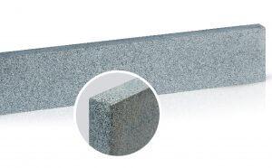 Boordsteen donker grijs graniet rondom gevlamd en geborsteld 3x40x100 cm