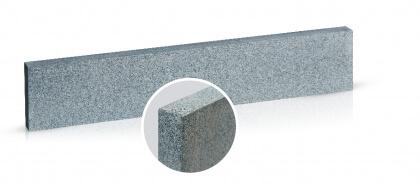 Boordsteen donker grijs graniet rondom gevlamd en geborsteld 5x45x100 cm
