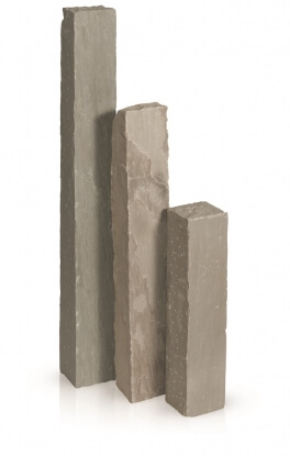 Palissaden Kandla grijs 12x12x50 cm