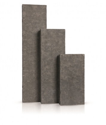 Palissades Basalte Vietnamien Flammé et Brossé 8x25x75 cm