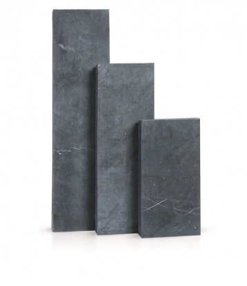 Palissaden Vietnamese blauwe steen geschuurd 8x25x125 cm