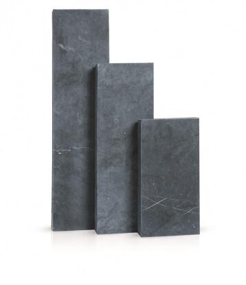 Palissaden Vietnamese blauwe steen geschuurd 8x25x75 cm