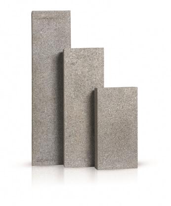 Palissaden donker grijs graniet gevlamd 8x25x100 cm
